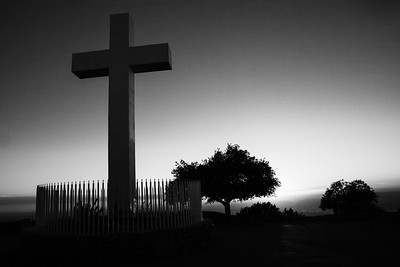 Mount Helix Cross at  sunset
