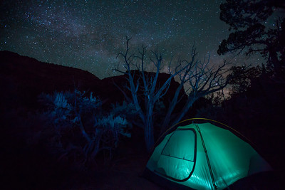 The Milkyway rising over our campsite on the Yampa River, Dinosaur National Monument, Colorado.