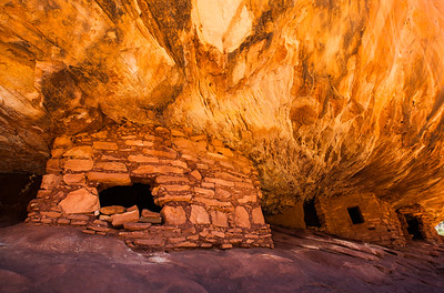 """House on Fire"", Indian ruin.A short hike of about a mile up Mule Canyon on the way to Natural Bridges National Monument, Utah."