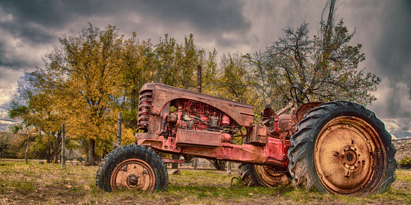 Old Tractor, Grafton Utah. This is an HDR photo.