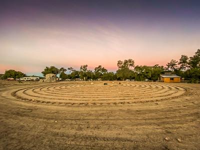 Labyrinth in Boulevard California at sunrise.