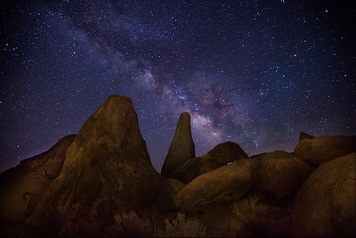 "Rock formation known as the ""Shark Fin"" in the Alabama Hills."