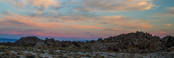 Sunset in the Alabama Hills.