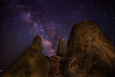 """Rock formation known as the """"Shark Fin"""" in the Alabama Hills."""