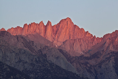 Alpenglow on Mt. Whitney
