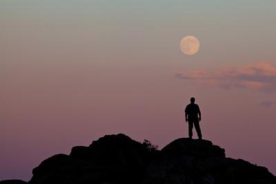 """Full Moon Rising"",  Anza Borrego State Park"