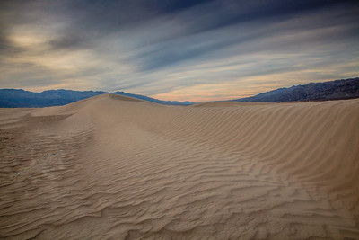 Mesquite Flats Sand Dunes at sunset