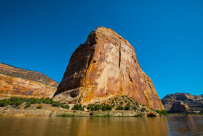 Steamboat Rock at the confluence of the Yampa and Green Rivers.