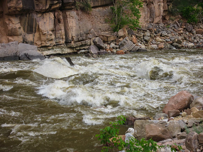 Warm Spring rapids on the Yampa River