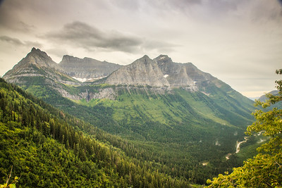 View from Logan Pass Visitors Center