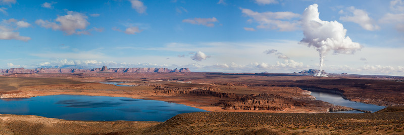"""The Cloud Machine"", Lake Powell near Page Az. 1:3 format"