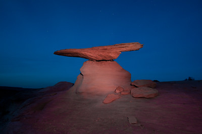 Small hoodoo at dusk