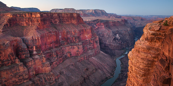 The Grand Canyon & the Colorado River from the Toroweap Overlook.