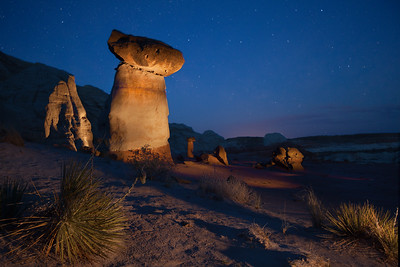 Light painted hoodoos