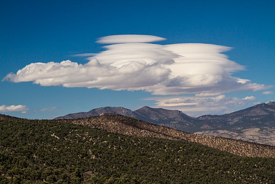 Lenticular clouds over Mt. Wheeler