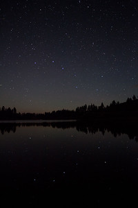 The Big Dipper reflected in Manzanita Lake