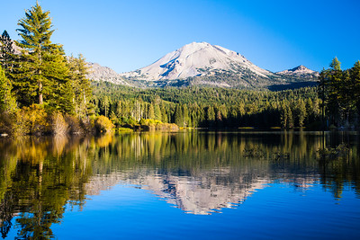 Mt. Lassen reflected in Manzanita Lake