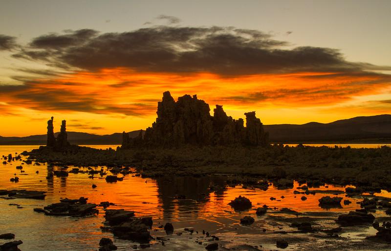 Tufa towers at sunrise. Mono Lake State Natural Reserve.