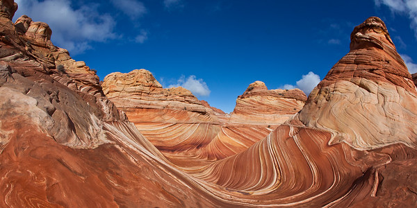 """The Wave"", Colorful sandstone swirl formations in North Coyote Buttes, Az. 1:2 format"