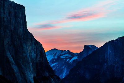 Halfdome at sunrise. Yosemite National Park