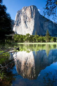 """River Reflection"", El Capitan reflected in the Merced river, Yosemite National Park"