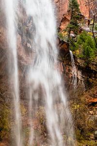 Waterfall & fall colors on the Emerald Falls hike