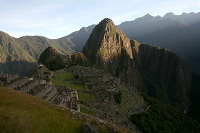 MACHU PICCHU, CUSCO, PERU - Morning light.