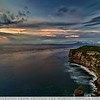 On our last day in Bali, I drove the scooter over to Uluwatu Temple on the West Coast of the Bukit Penensula for some final sunset pictures.  I got there just as the light was starting to change took this shot of the cliffs with the mainland of Bali in the background.  If you look close you can notice some of Bali's mountains created from volcanoes on the right side in the distance.  As you can see the Water was just beautiful and you can see right to the bottom untill it drops off about 50 feet from the shore.  We really enjoyed our time in Bali.  The people are kind, the scenery is beautiful and the weather is warm.  We even made some good friends for life while there and were invited to their wedding.  We hope to return to Bali in the future and catch back up.