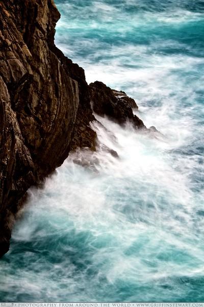 Waves Crashing in Cinque Terre