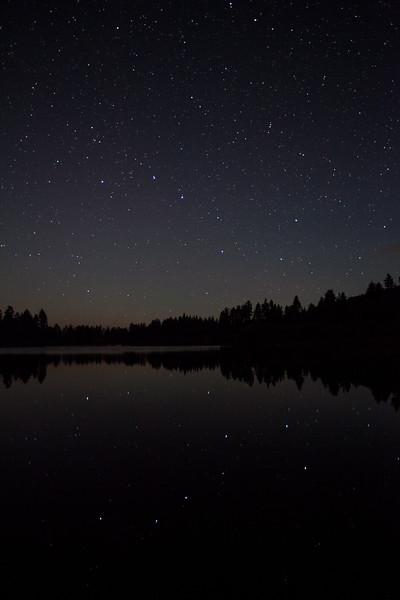 The Big Dipper reflected in Manzanita Lake