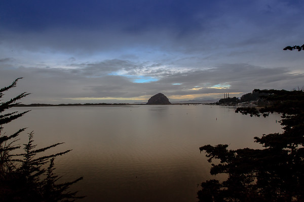 Morro Rock & Bay at sunrise