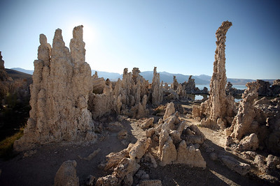 MONO LAKE, CA: Tufa towers. Formed underwater, now they're high and dry.