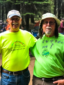 Mike and Mick, Neon night at Huntington Lake