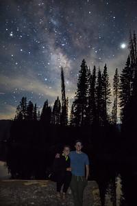 Natalie and Christopher, Night at Huntington Lake