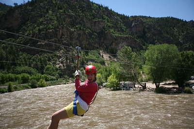 GLENWOOD SPRINGS, CO - Zipline over the Colorado River.