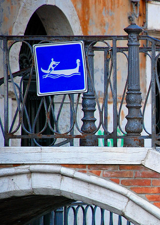 Traffic Sign, Venice Style