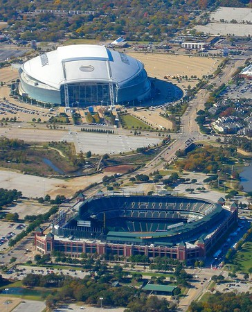 The Stadiums in Dallas with a Third Under Construction