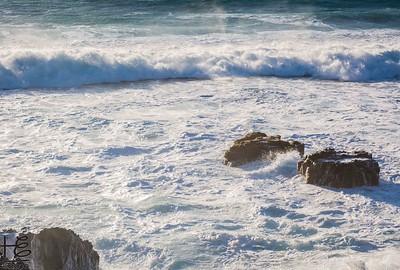 Foamy shore