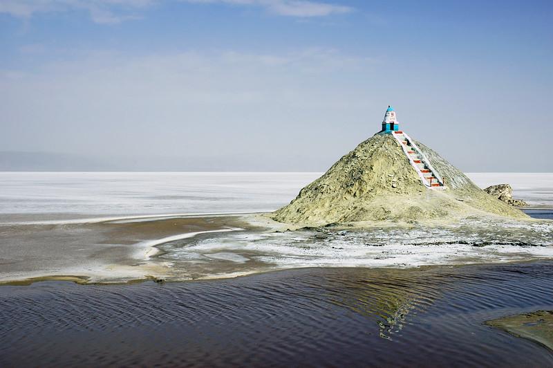 Small shrine within the Chott El Djerid salt lake, Tunisia