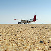 Arrival at desert airstrip in the Rub Al Khali (Empty Quarter), Saudi Arabia