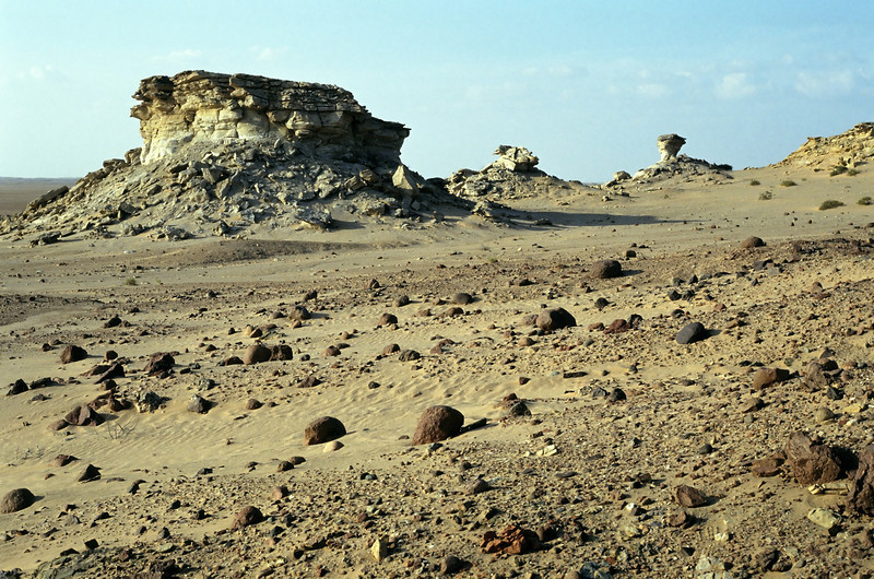 Desert scenery in the central part of the Huqf region, interior Oman