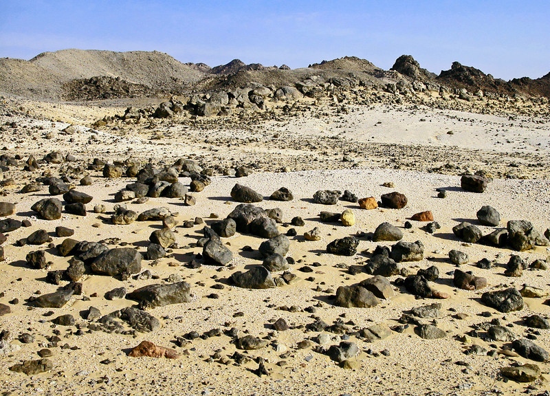 Blocks and boulders along the edge of the Jebel Majayiz salt dome, Oman