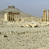 Ruins and castle at Palmyra, Syria