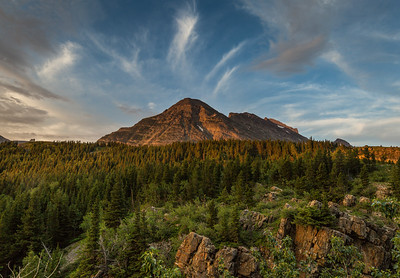 Cirrus Clouds Over Allen Mountain