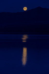 Moonset at McDonald Lake