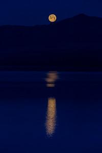 Moonset at McDonald Lake