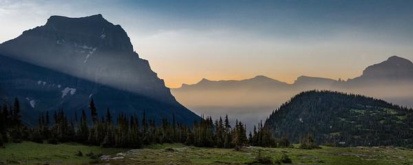 Dawn Breaks at Logan Pass