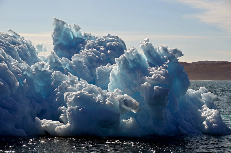 Sculpted iceberg in the Godthabsfjord, west Greenland