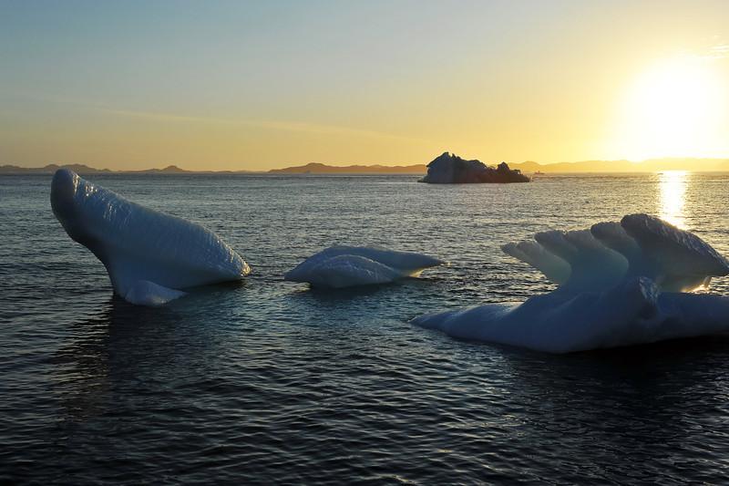 Sunset over Godthabsfjord, west Greenland