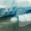 Melting iceberg with 'blue ice' in the Hornsund, Svalbard
